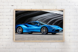 Poster Ferrari F8 tributo
