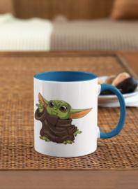Mok, blauw handvat, Star Wars baby Yoda