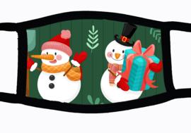 Sublimatie mondkapje Kerst Sneeuwoppen, in 3 maten