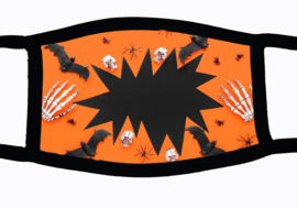 Sublimatie mondkapje met Halloween hole print, in 3 maten