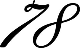 Sticker Huisnummer in krullende cijfers