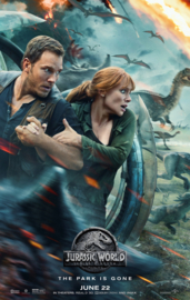 Poster Jurassic Worlds Fallen Kingdom ;  The park has gone