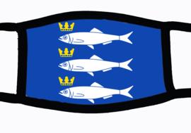 Sublimatie mondkapje met Scheveningse vlag