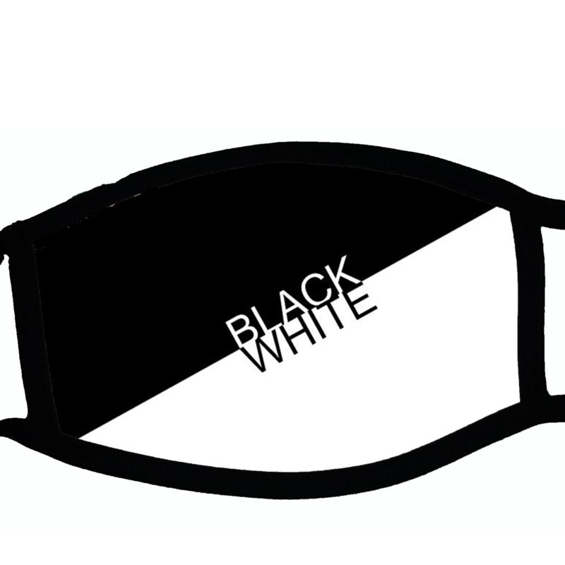 Sublimatie mondkapje met  print black white, in 3 maten