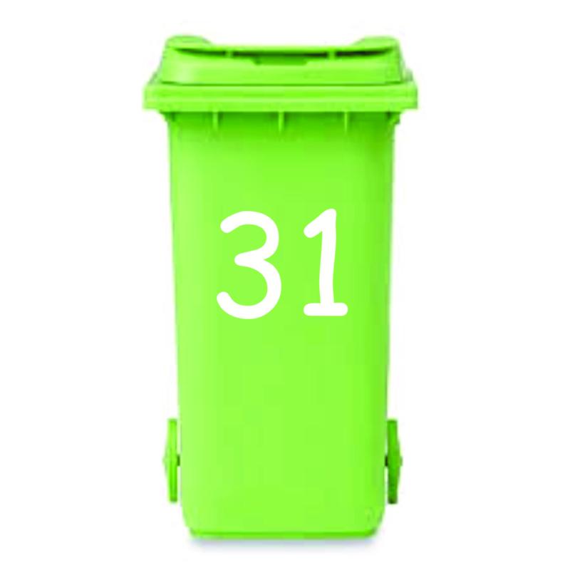 Huisnummer voor Kliko / mini container