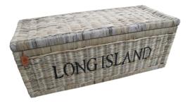 Rieten mand met opdruk Long Island XL