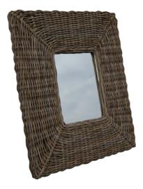 Rotan spiegel 85x105