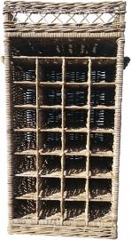 Rotan wijnrek (28 flessen)