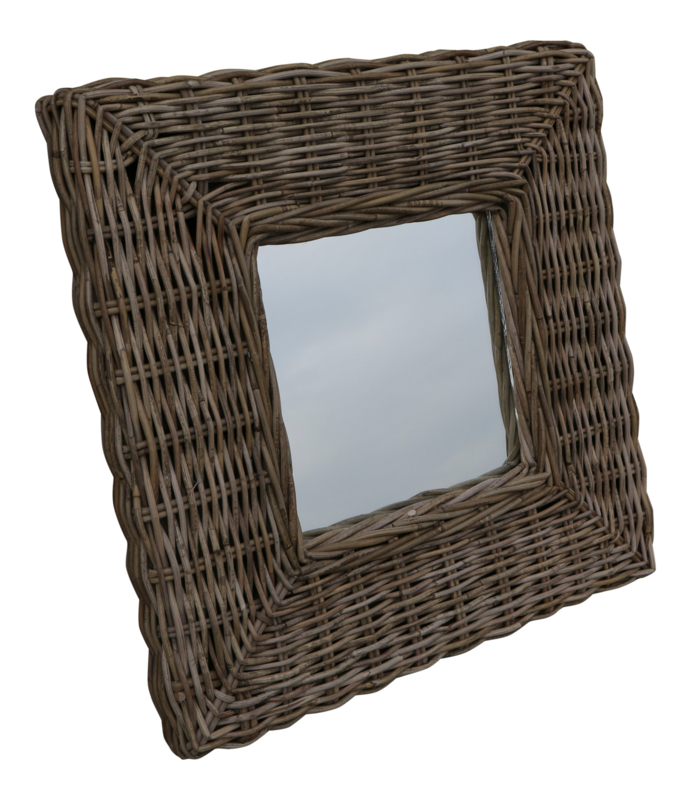 Rotan spiegel 60x60