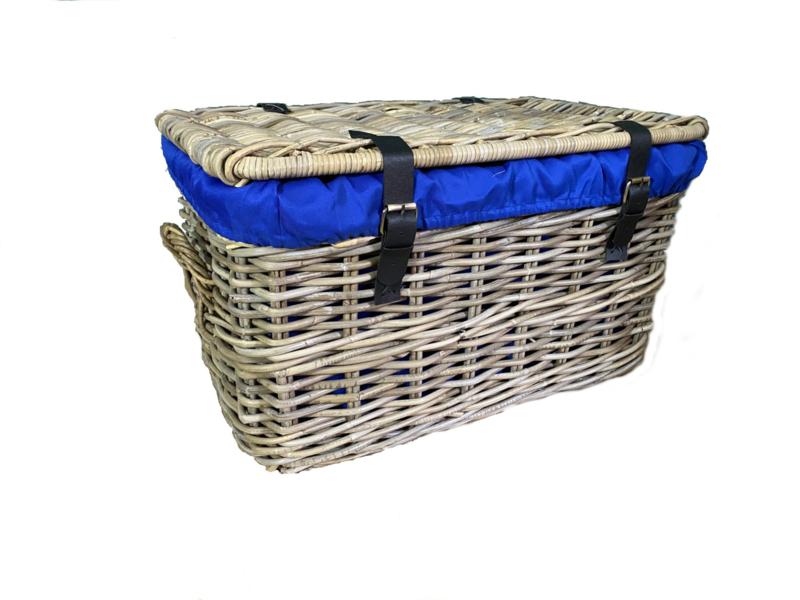 Linnen voering blauw > voor Lombok mand XL