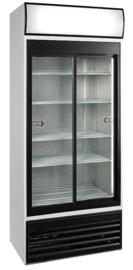435700201 - Bedrijfskoelkast met circulatiekoeling met glazen schuifdeuren en reclamedisplay  462 Liter NORDCAP KU890G-SD