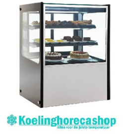GG216 -POLAR RVS display vitrine 300 ltr.