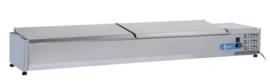 VRX2000(330) INOX - OPZETKOELING GN1/4 INOX DEKSEL - 10 X GN1/4 TOPCOLD