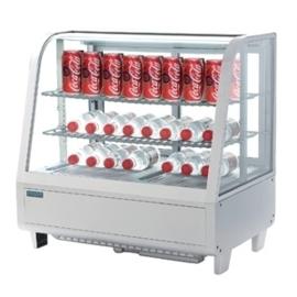 CC666 - Polar gekoelde witte vitrine 100 liter POLAR