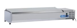 VRX1500(330) INOX - OPZETKOELING GN1/4 INOX DEKSEL - 7 X GN1/4 TOPCOLD