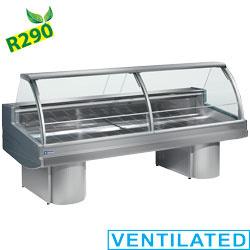 BS30/VV-R2 - Koeltoonbank met gebogen ruit  - geventileerde koeling mm (BxDxH) : 3000x1040xh1285 DIAMOND