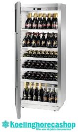 436500052 - Wijntemperatuurkast voor 120 bordeauxflessen, schuin staand met statische koeling, bedrijfsklaar NORDCAP MIAMI RF T