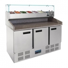 G623 - Polar gekoelde pizza/sandwich prepareer counter 368ltr