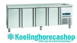 EURO GNE/4 - EURO LINE 70 Geventileerde koelwerkbank met 4 deuren en spoelbak Afmetingen: (L) 2245 X (B) 700 X (H) 850 TOPCOLD