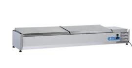 VRX2200(380) INOX - OPZETKOELING GN1/3 INOX DEKSEL - 10 X GN1/3 TOPCOLD