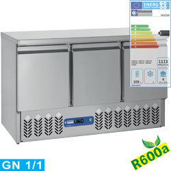 SA3/R6 - Compacte koeltafel 3 deuren GN 1/1, 380 Lit DIAMOND