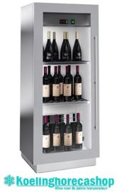 436500050 - Wijntemperatuurkast 50 bordeauxflessen met statische koeling, bedrijfsklaar NORDCAP MIAMI MINI RF T