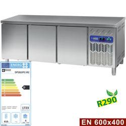 DP202/PC-R2 - Gekoelde werktafel, geventileerd, 3 deuren EN 600x400 (550L) DIAMOND