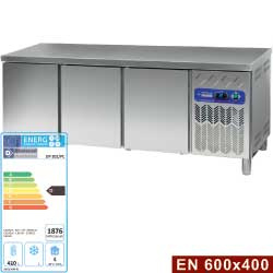 DP202/PC - Gekoelde werktafel, geventileerd, 3 deuren EN 600x400 DIAMOND