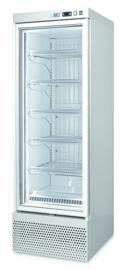 453800000004 - Bedrijfsvrieskast, met circulatiekoeling, bedrijfsklaar met 1 glazen deur 350 Liter NORDCAP