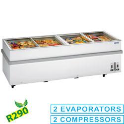 VT200E/N-R2 Panoramische diepvriezer 2 compressoren, 1 temperatuur Diamond