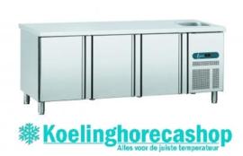 EURO GNE/3 - EURO LINE 70 Geventileerde koelwerkbank 3 deuren en spoelbak Afmetingen: (L) 1792 X (B) 700 X (H) 850 TOPCOLD