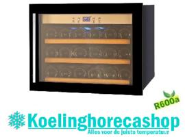 455464018 - Wijnklimaatkast 18 flessen bedrijfsklaar met statische koeling en glazen deur NORDCAP SOMMELIER 18