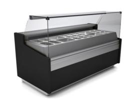 SPID300 - GEVENTILEERDE TOONBANK SPID300 MET G/N STRUCTUUR zonder bakjes TOPCOLD
