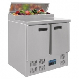 G604 - Polar rvs pizza/sandwich counter 2-deurs