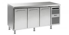 861802206 - Gram GASTRO koelwerkbank 1/1 GN - GASTRO K 1807 CMH AD DL/DL/DR LM - 3 deuren