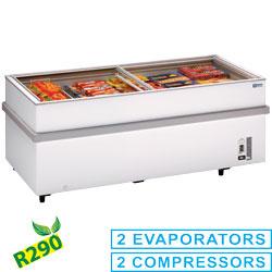 VT150E/N-R2 Panoramische diepvriezer 2 compressoren 1 temperatuur Diamond