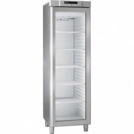 864110441 - Gram COMPACT koelkast met glasdeur KG 410 RG L1 6W - RVS
