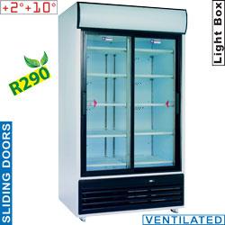 DRINK-110S/R2 - Koel vitrinekast met schuifdeuren voor dranken, 835 liter DIAMOND