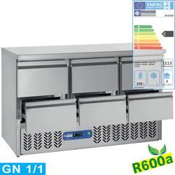 SA3/R6+3XGC1/2/R6 - Koelwerkbank met 6 lade GN 1/1 DIAMOND