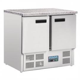 CL108 - Polar gekoelde werkbank met marmeren werkblad 240ltr