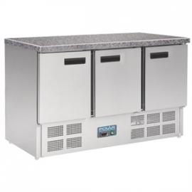 CL109 - Polar gekoelde werkbank met marmeren werkblad 368ltr