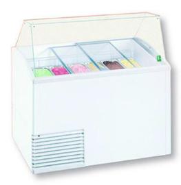 SLANT ICE LUX - SCHEPIJSVITRINE VOOR 10 X 5L BAKKEN - RESERVE VOOR 12 BAKKEN TOPCOLD