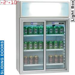 TOP11/T - Vitrine tafelmodel, 100 liter, schuifdeuren - Drink line