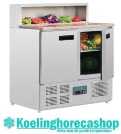 G603 - Polar gekoelde pizza/sandwich prepareer counter 288 liter
