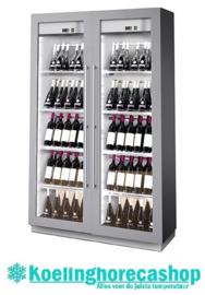 436500053 - Wijntemperatuurkast voor 172 (86 / 86) bordeauxflessen, schuin staand met statische koeling, bedrijfsklaar NORDCAP MIAMI B&R RF T