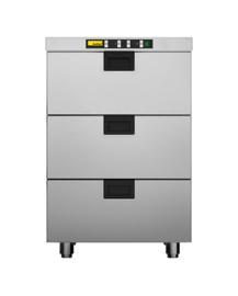 437060003 - 2 koellades voor 1 x GN 1/1 en 2 x GN 1/4 per lade, 1 diepvrieslade voor 1 x GN 1/1 NORDCAP HDCF 03 E