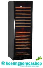 435800002 - Wijnkoelkast 145 flessen recirculatiekoeling , met glazen deur NORDCAP WK370-2