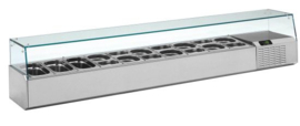 L9/2190 1/4 - OPZETKOELING GN1/4 GLAS 2190X324X385 TOPCOLD