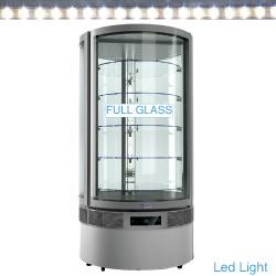RON/79AV - Glazen vitrine, cilinder, 5 niveaus, geventileerd - Exalta Line PLUS