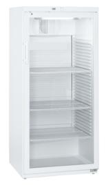 405254001 - Bedrijfskoelkast met circulatiekoeling, glazen deur en verlichting 536 Liter NORDCAP UKU543W